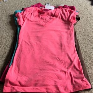 Neon pink v-neck t-shirt NWT size Small